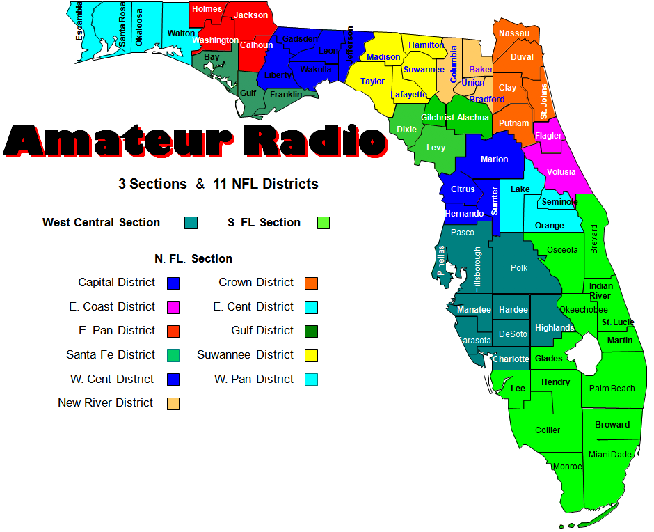 11 NFL Districts + WC and SFL Sections